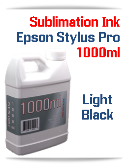 Light Black 1000ml Sublimation Ink Epson Stylus Pro Printers