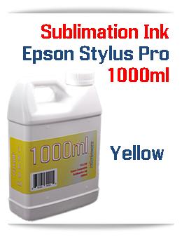 Yellow 1000ml Sublimation Ink Epson Stylus Pro Printers