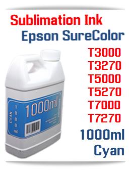 Cyan Sublimation Ink 1000ml Epson SureColor T-Series Printers
