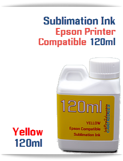 Yellow Epson Compatible 120ml Bottle Sublimation Ink
