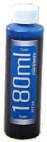 Cyan 180ml bottle Epson Compatible Dye Ink