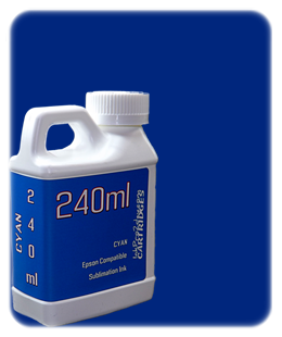 240ml Cyan Sublimation Ink Epson SureColor T-Series Printers