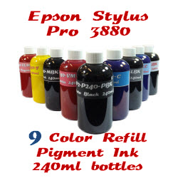 9 Color Refill Pigment Ink Stylus Pro 3880