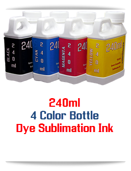 4 240ml Dye Sublimation Bottle Ink