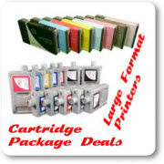 Large Format Printer Ink Cartridge Package Deals