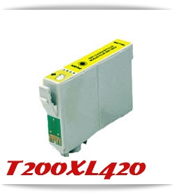 T200XL420 Yellow Expression Home XP, WorkForce WF Compatible Ink Cartridge