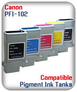 PFI-102 Canon Compatible Pigment Ink Tanks