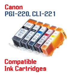 PGI-220, CLI-221 Compatible ink cartridges