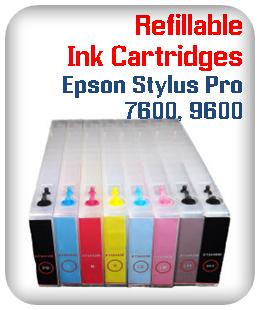 Refillable Ink Cartridges Epson Stylus Pro 7600, 9600 printers