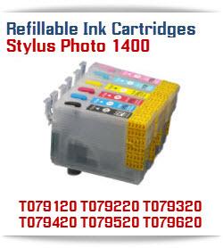 Refillable Ink Cartridges Epson Stylus Photo 1400 printer