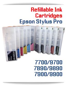 Epson Stylus Pro 7700/9700, 7890/9890, 7900/9900 printers Refillable Ink Cartridges T636 700ml