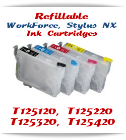 Refillable WorkForce, Stylus NX Printer Compatible Ink Cartridges