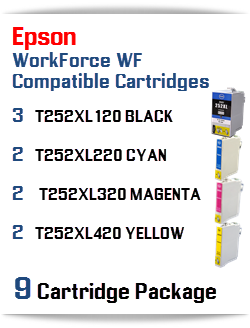 9 Cartridge Package T252XL Epson WorkForce WF