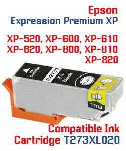 T273XL020 Black High-capacity Expression Premium XP Compatible Ink Cartridge
