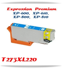 T273XL220 Cyan Epson Expression Premium XP-610 Printer ink cartridge