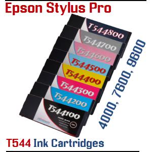 Epson Stylus Pro 4000, 7600, 9600 T544 Ink Cartridges