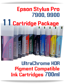 Epson Stylus Pro 7900, 9900 11 Cartridge Package