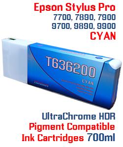 T636200 Cyan Stylus Pro Ink Cartridge 700ml