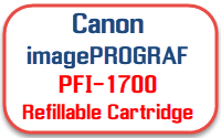 Canon imagePROGRAF PFI-1700 Refillable Ink Cartridges