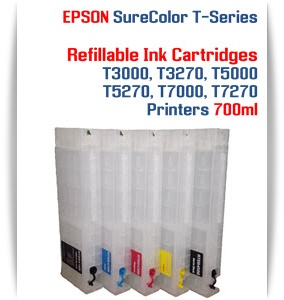 EPSON SureColor T3000, T5000, T7000, T3270, T5270, T7270, T5270D, T7270D Refillable Printer Ink Cartridges 700ml