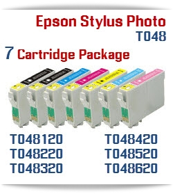 7 Cartridge Package T048 Epson Stylus Photo Printers